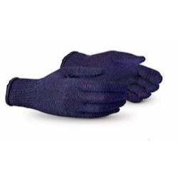 Blue Knitted Gloves