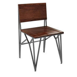 Brown And Grey Outdoor Wooden Chair