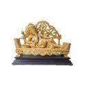 Polished Sleeping Ganesha Statue