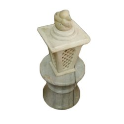 Off White Antique Marble Decorative Light Lamp