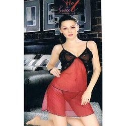 Designer Red and Black Nightwear