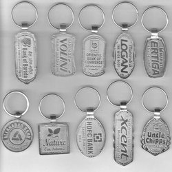 Silver Stainless Steel Keychain, Packaging Type: Packet