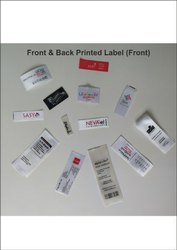 Front And Back Printed Labels