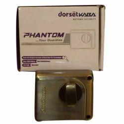 Phantom Brass door lock, Nickel