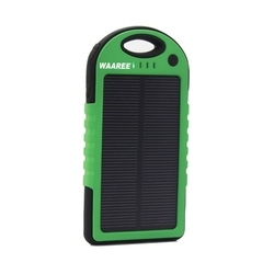 Green And Black Solar Mobile Charger, 5W