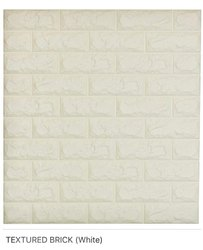 Textured Brick (White) Wall Panel