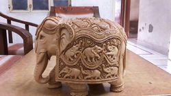 Wooden Sikar Carveen Elephant
