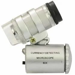 60X Zoom Pocket Microscope Magnifier / for Currency, Jewellery, with LED & UV Light (Grey)