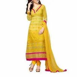 Cotton Ladies Designer Churidar Suit, Machine wash, Hand wash