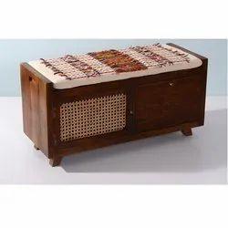 Handmade Wooden Storage Bench