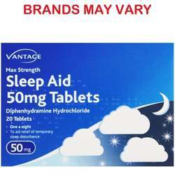 Sleep Aid 50 mg Tablets