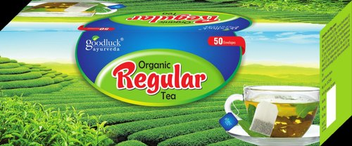 Goodluck Ayurveda Organic Regular Tea, Pack Size: 50 Tea Bags (2gm. Approx Each)