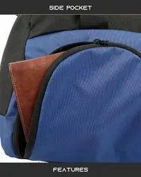 Black And Blue Duffle Gym Bag