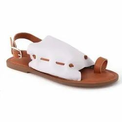 cb808fe4c London Rag Womens Leather Back Strap White Flat Sandal
