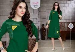 Chhaya Present Lihaaz Cotton Slub Casual Wear Kurti
