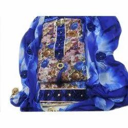 Multicolor Casual Fancy Cotton Salwar Suit Material