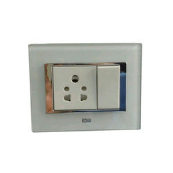 Roma White Electric Switch, 220V