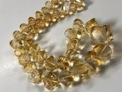 Citrine Twisted Fancy Beads