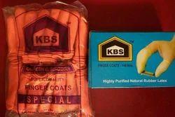Orange/ Milky White KBS Finger Coats, Size: Finger Size