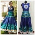 Satin Ethnic Exclusive Party Wear Heavy Gown