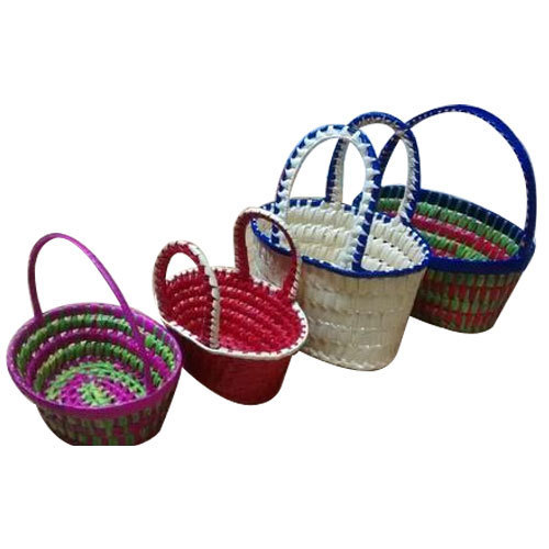 Palm Leaf Flower Basket Rs 65 Piece Hasmi Handicrafts Id
