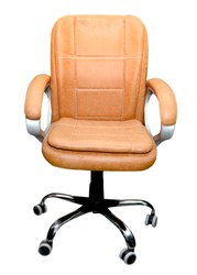 Brown Medium Back Revolving Chair