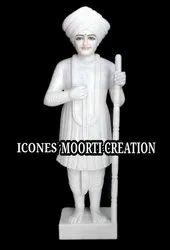 White Marble Jalaram Bapa Statue