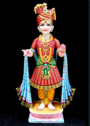White God Swaminarayan Statue Rs 30000 Piece Akshar