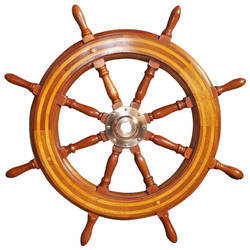 American Cast Iron and Wooden Classic Ship Wheel