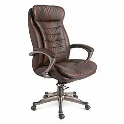 Fixed Arm Leather Chair