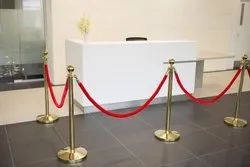Gold Queue Stand