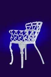 White Aluminium Garden Chair, For Outdoor
