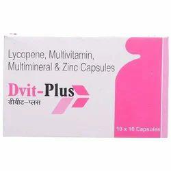 Divit Food Grade Lycopene Multivitamin Multimineral And Zinc Capsules, Prescription, Packaging Type: Box