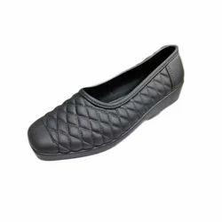 Ladies PVC Plain Black Casual Wear Belly, Size: 4 - 7