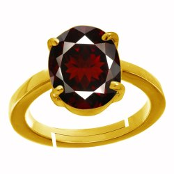 Hessonite Garnet Panchdhatu Ring Gemstone