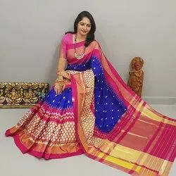 Ladies Designer Pochampally Silk Saree