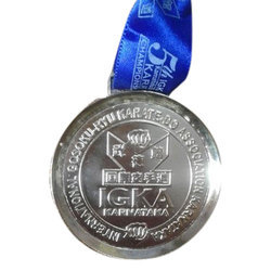 Silver Plated Karate Sports Medal