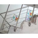 Designer SS Stairs Glass Railing