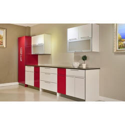 Red And White Wood Kitchen Furniture