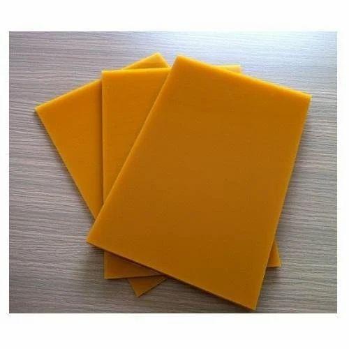 Orange Polyurethane Sheet, Thickness: 5-10mm
