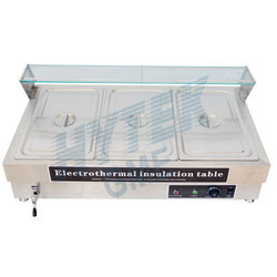 Table Top 3 Pan Bain Marie With Glass Shelf