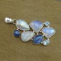 Rainbow Moonstone 925 Sterling Silver Handmade Pendant