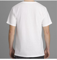 White Mens Round Neck T Shirt
