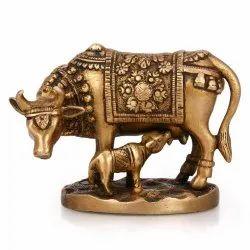Brass Cow And Calf ( Gaye Bachdha) for Interior Decor Use