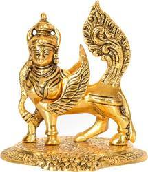Gold Plated Kamdhenu Cow Statue