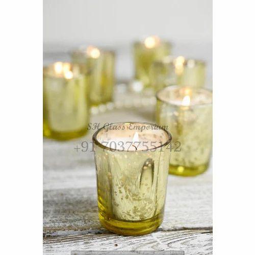 Gold Mercury Glass Votive Holders At Rs 25 Piece Kaanch Ke