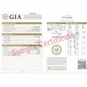GIA Certiifed Real Round Solitaire Diamond