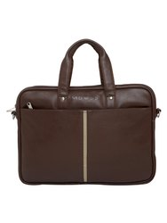 MBOSS Brown 5.7 Liter Travel Faux Leather 14 Inch Laptop Messenger Bag