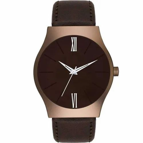 Boys Round Analog Brown Dial Watch, Model Number/Name: AM100