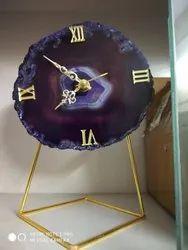 Agate Stand Clock